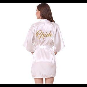 Silk Kimono Bride Robe